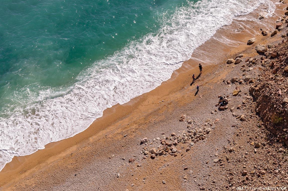 """Вид сверху на пляж """"Васили"""""""