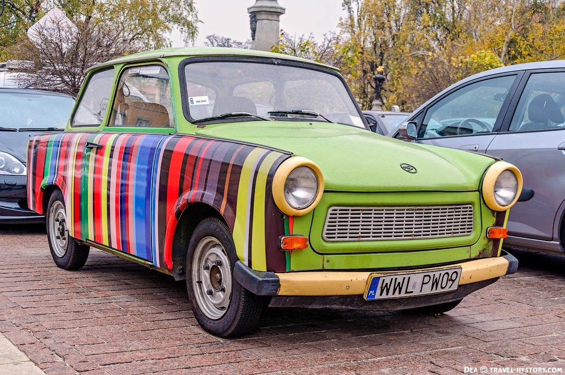 Ретро-автомобили в Варшаве. Трабант 601S