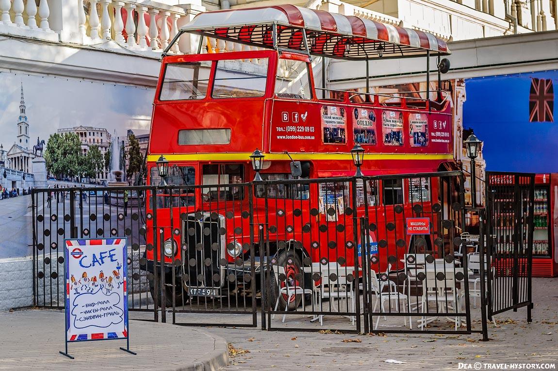 Лондонский автобус на улицах Севатополя