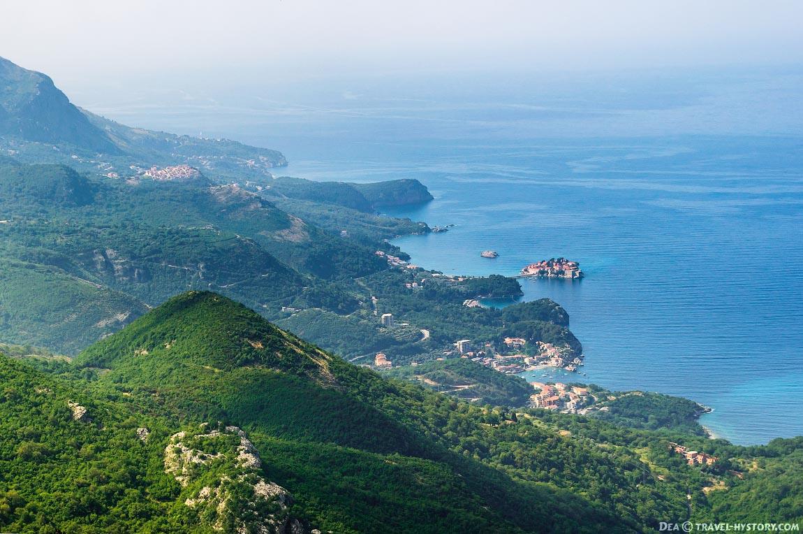 Черногория. Вид на Свети Стефан