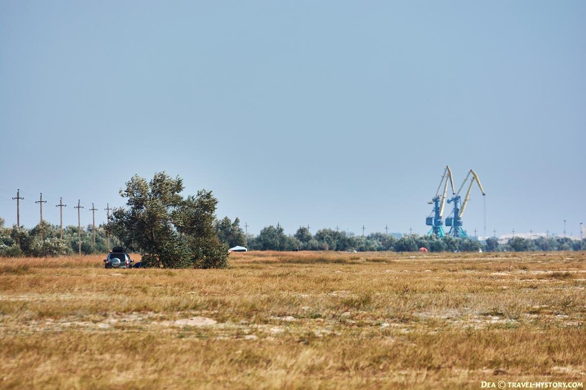 Коса Беляус в Крыму